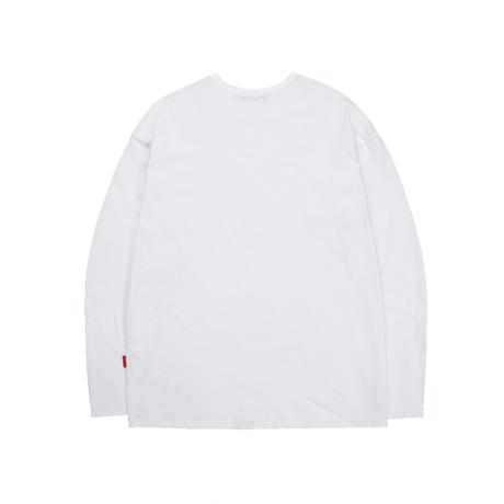 『TRIPSHION』  トリプルゼントルマンロング Tシャツ (White)