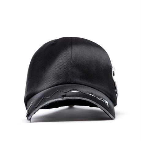 『BLACKBLOND』  ゴーストスローガンパッチロゴキャップ (Black)