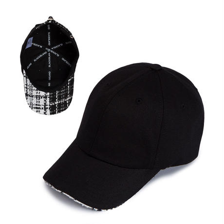 『BLACKBLOND』  ハーフツイードキャップ (Black)