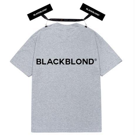 『BLACKBLOND』 クラシックスマイルロゴショートスリーブ Tシャツ (Gray)