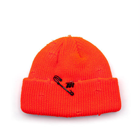 『BLACKBLOND』    リップトカスタムショートニット帽 (Orange)