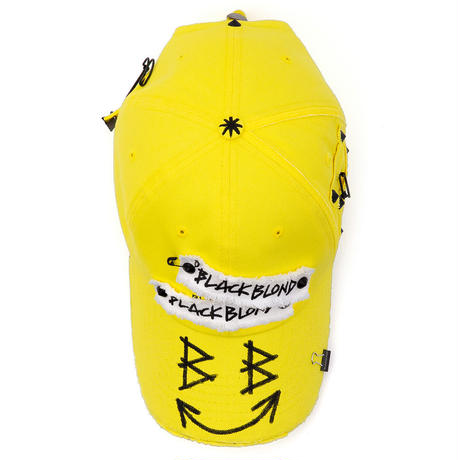 『BLACKBLOND』 ビッグスマイルパッチロゴキャップ (Yellow)