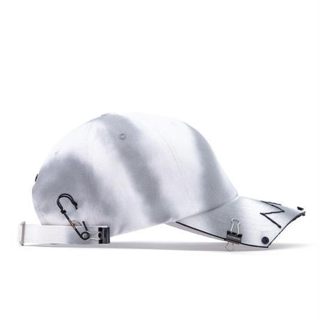 『BLACKBLOND』  ゴーストスローガンパッチロゴキャップ (White)