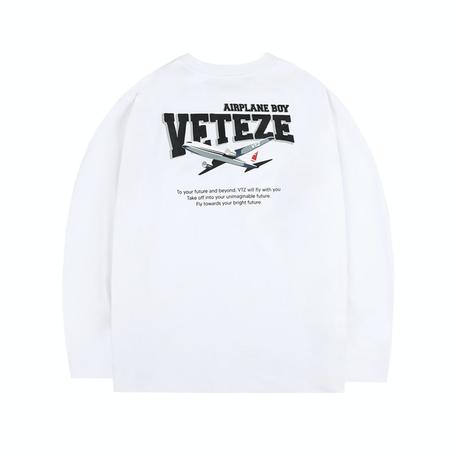 『VETEZE』  エアプレーンロングスリーブTシャツ (White)