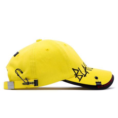 『BLACKBLOND』  ビヨンドグラフィティーロゴダブルバイザーキャップ (Yellow)