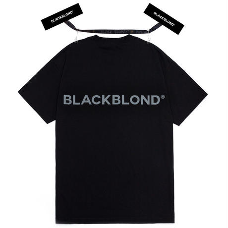 『BLACKBLOND』  クラシックスマイルロゴ半袖 Tシャツ (Black)