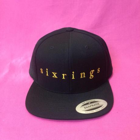 sixrings SNAPBACK CAP  BLK/GLD