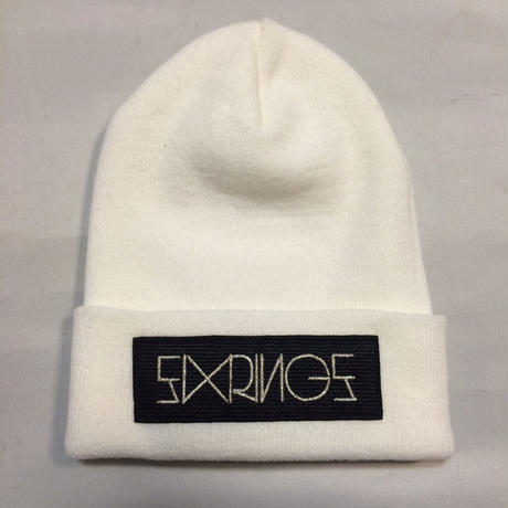 SIXRINGS KNIT CAP/WHT