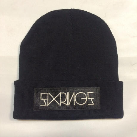 SIXRINGS KNIT CAP/BLK