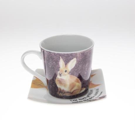 動物シリーズ「ウサギ」のカップ&ソーサー