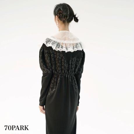 #Sheer Detachable collar  ビッグカラー シアー  フリル 付け襟 ホワイト
