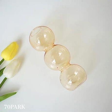 #バブル ガラス ミニ フラワーベース 全4タイプ 花瓶 一輪挿し