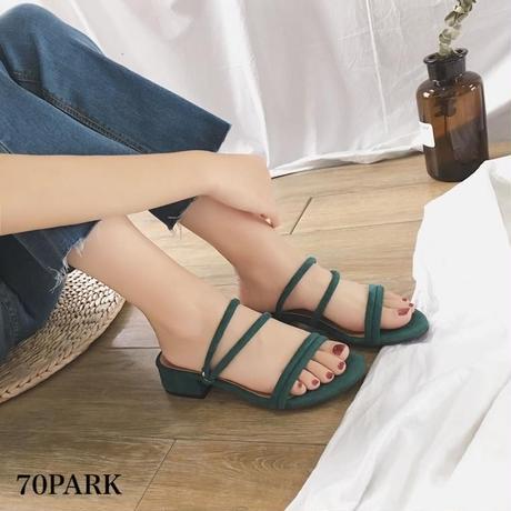 #Ankle Strap Flat Sandals  スエード調 ストラップ ローヒール サンダル 全4色