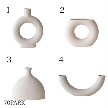 #シンプル モダン 変形  フラワーベース 全4タイプ 花瓶