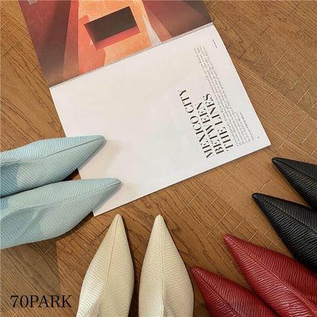 #シワ加工 ソフトフェイクレザー ポインテッドトゥ ブーツ 全4色