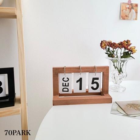 #ウッド フレーム 卓上 万年 カレンダー 全2色