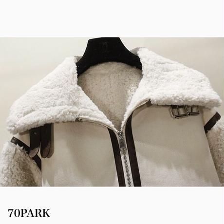 #Piping Mustang Jacket  フェイクレザー  パイピング ムスタンジャケット 全3色