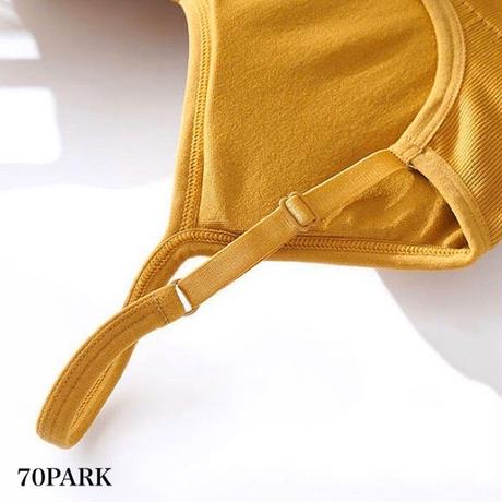 #Open Back Bratop  肩紐調節可能 背中開き ブラトップ 全5色