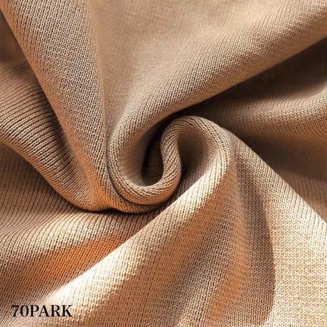 #Polka Dot See-Through Sleeve Top  ドット柄 シースルー ボリューム袖 ニット トップス 全2色