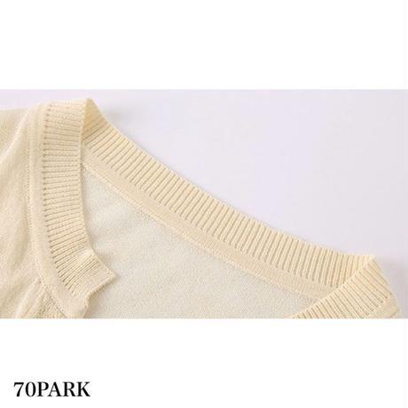 #Cardigan + Camisole  Set 薄手 ニット カーディガン × キャミソール セット 全3色