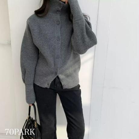 #ハイネック ニット カーディガン 全3色 セーター