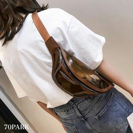 #PVC Bum Bag  クリアカラー ボディバッグ 全5色 バムバッグ