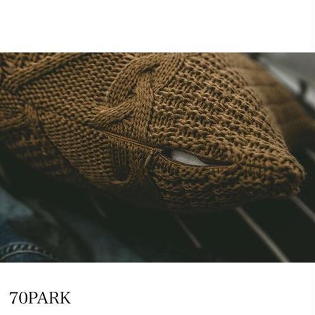 #大柄 ケーブル編み ニット クッションカバー 全5色