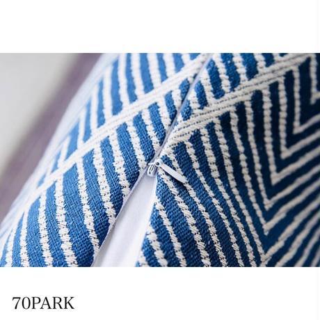 #タッセル付き ジグザグ柄 カラー クッションカバー 全4色