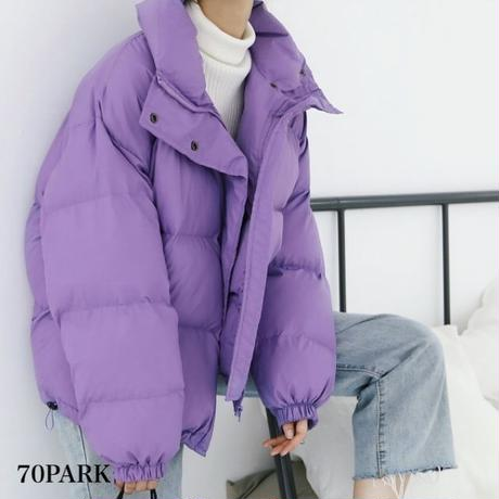 #Purple Padding Jacket  パープルカラー  中綿  ボリューム ジャケット