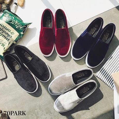 #Velvet Sneaker  ベロア スニーカー   全4色 厚底 スリッポン