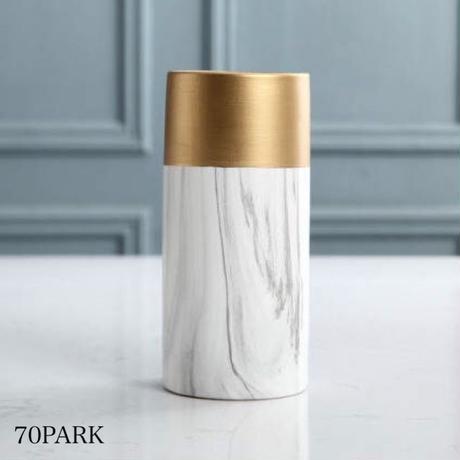 #ゴールドカラー × 大理石調 筒型 フラワーベース 全3タイプ