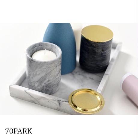 #大理石調 蓋付き キャンドルホルダー ブラシスタンド 全6色