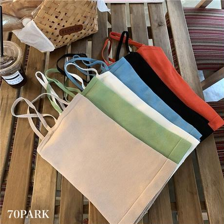 #Asymmetric Camisole Top アシンメトリー デザイン 細ストラップ キャミソール 全6色