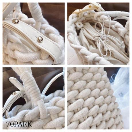 #ロープ編み 2way ショルダーバッグ 全2色