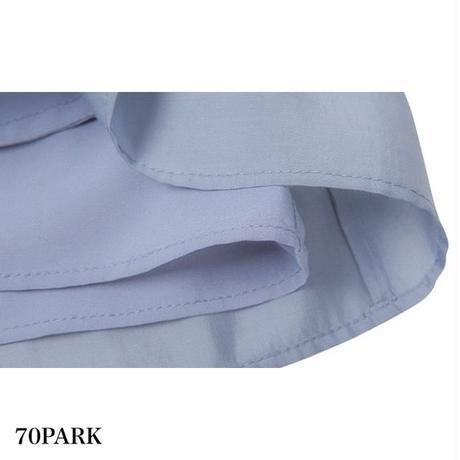 #Sheer Blouse Pants Set シアー ブラウス × ショートパンツ セットアップ 全2色
