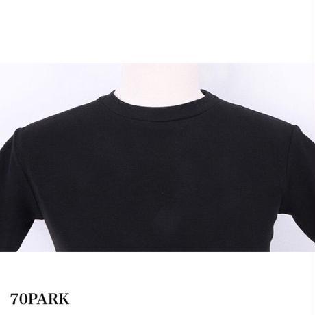 #O-ring Crop Top  リング付 カットアウト クロップトップ 全2色 Tシャツ