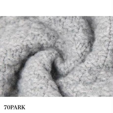 #Half Zip Cable Knit Sweater ハーフジップ ケーブル編み ルーズ ニット トップス 全2色