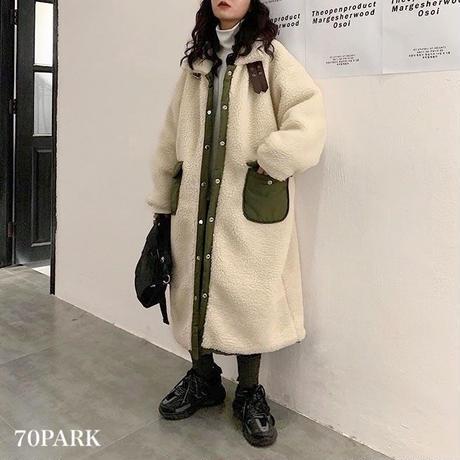 #Reversible Belted Boa Coat オーバーサイズ リバーシブル ボア ベルテッド  コート