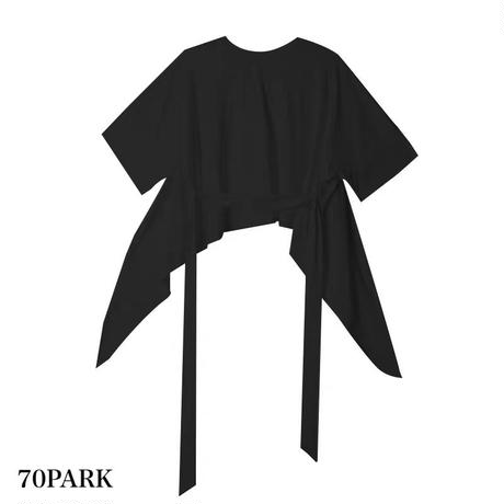 #Tie-Back  Loose T-shirt  背中開き バックリボン ルーズ Tシャツ 全2色