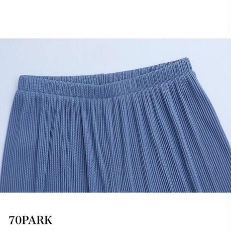 #Ribbed Wide Leg Pants リブ リラックス ワイド パンツ 全6色