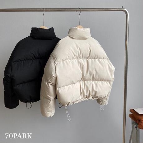 #Short Padded Jacket ショート丈 スタンドカラー 中綿 ジャケット 全3色