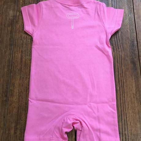 OPPO / KIDS / T-shirt  (ロンパース・ピンク) *handmade print ver.*