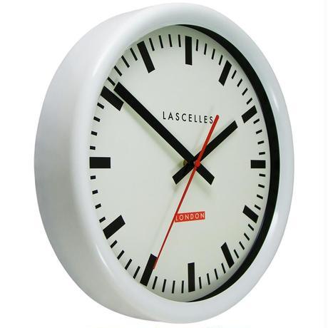 LASCELLES<SWISS STATION CLOCK>WHITE