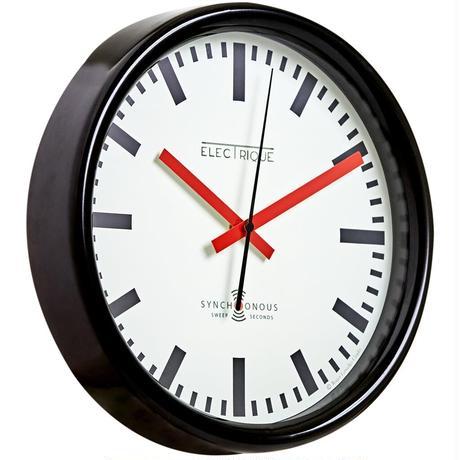 LASCELLES<SWISS STATION CLOCK>BLACK