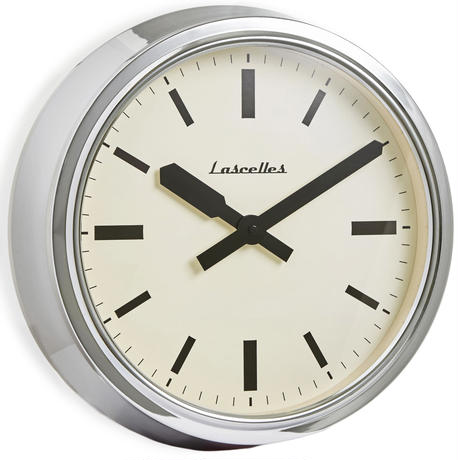 lascelles<RETRO WALL CLOCK>CHROME