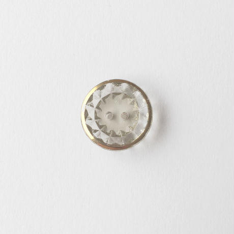 VINTAGE GOLD RIMMED GLASS BUTTON