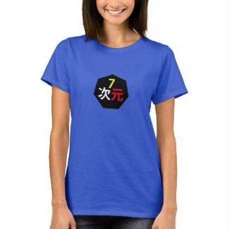 7次元ロゴ Tシャツ レディース