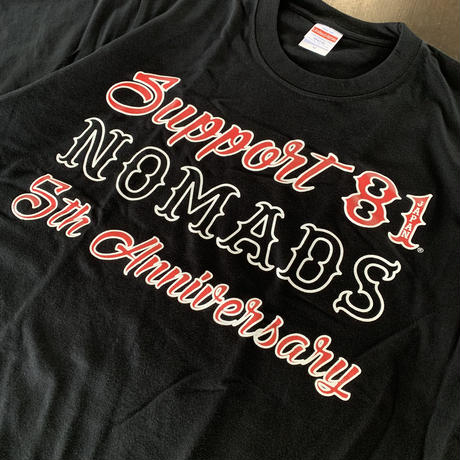 SUPPORT 81_5th Anniversary T-shirts