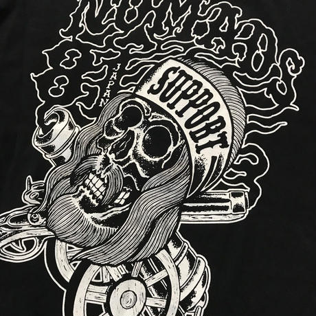 SUPPORT 81 BANDANA SKULL Tee_Black