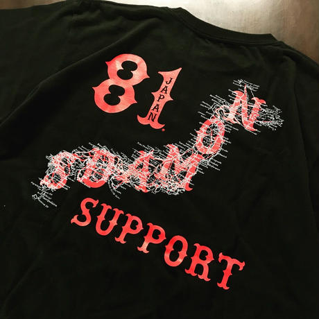 SUPPORT 81 HEART Tee_Black
